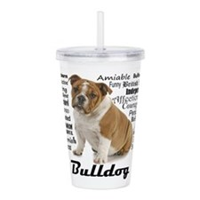 Bulldog Traits Acrylic Double-wall Tumbler