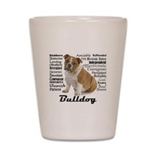 Bulldog Traits Shot Glass