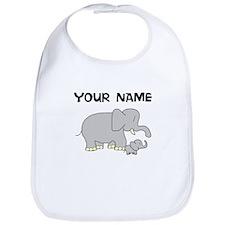 Custom Baby Elephant And Mom Bib