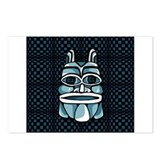 Blue Tiki Mask Postcards (Package of 8)
