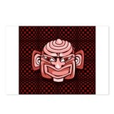 Red Tiki Mask Postcards (Package of 8)