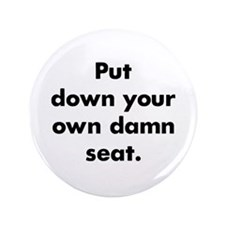 "Damn Seat 3.5"" Button (100 pack)"