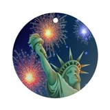 Liberty Fireworks Ornament (Round)