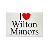 """I Love Wilton Manors"" Rectangle Magnet"