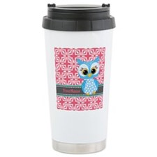 Beautiful Teal Owl Pers Travel Mug