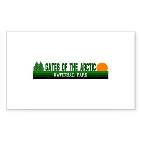 Gates of the Arctic National Sticker (Rectangular