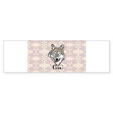 Native Cherokee Wolf Bumper Bumper Sticker