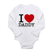 Cute I heart daddy Long Sleeve Infant Bodysuit