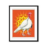 Sunburst White Turkey Framed Panel Print