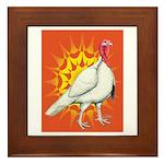 Sunburst White Turkey Framed Tile
