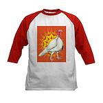 Sunburst White Turkey Kids Baseball Jersey