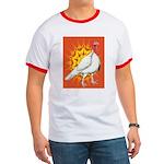 Sunburst White Turkey Ringer T