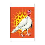 Sunburst White Turkey Mini Poster Print