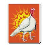 Sunburst White Turkey Mousepad