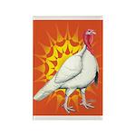 Sunburst White Turkey Rectangle Magnet (10 pack)