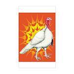 Sunburst White Turkey Rectangle Sticker