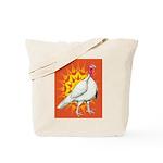Sunburst White Turkey Tote Bag