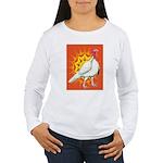Sunburst White Turkey Women's Long Sleeve T-Shirt