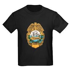 New Hampshire State Police Kids Dark T-Shirt