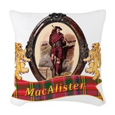 MacAlister Clan Woven Throw Pillow