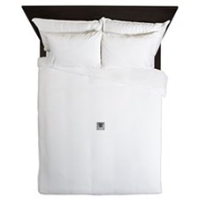 Clear Square Crystal Gen Stone Queen Duvet