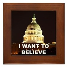 I Want To Believe Framed Tile