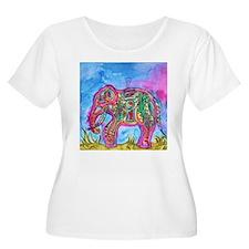 Rainbow Tribal Elephant by Vanessa Curtis Plus Siz