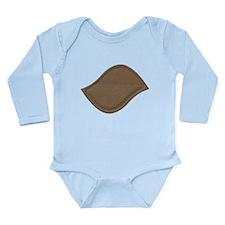 Brown Cardboard Leaf Patch Body Suit