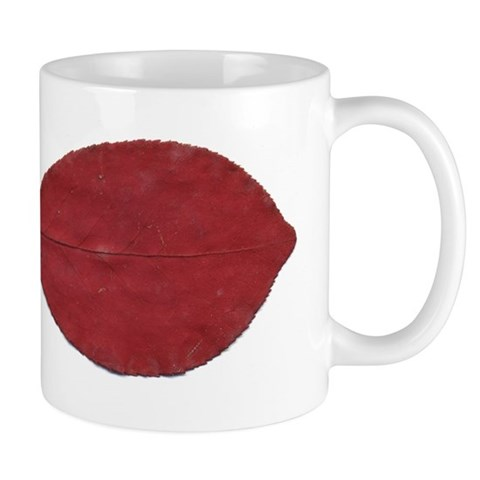Red Autumn Leaf Mugs