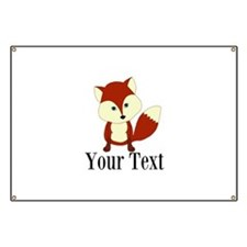 Personalizable Red Fox Banner
