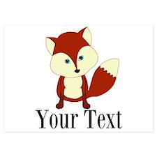Personalizable Red Fox Invitations