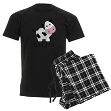 Personalizable Black and White Cow Pajamas