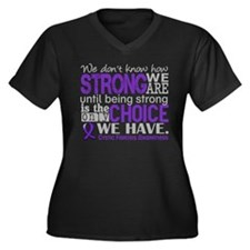 CF HowStrong Women's Plus Size V-Neck Dark T-Shirt