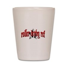 Roller Derby Ref Shot Glass