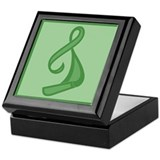 &quot;Green Ribbon Twist&quot; Keepsake Box