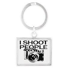 I shoot people Landscape Keychain