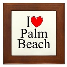 """I Love Palm Beach"" Framed Tile"