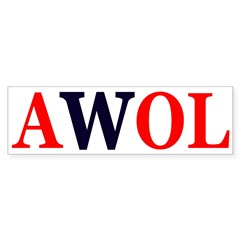 AWOL W (Bumper Sticker)