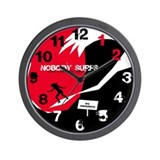 Nobody Surfs Like a Jersey Girl Wall Clock