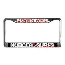 Nobody Surfs Like a Jersey Girl License Plate