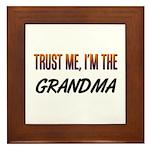 Trust ME, I'm the GRANDMA Framed Tile