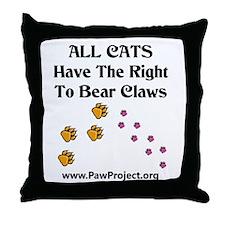 Funny Cat animals Throw Pillow