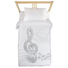 Treble Clef Music Notes Twin Duvet