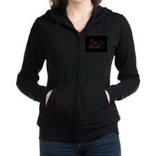 Unique Peace love curl Women's Zip Hoodie