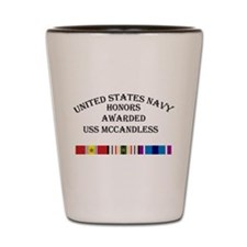 USS Mccandless Shot Glass