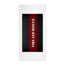 Fire and Rescue Diamond Plate Beach Towel
