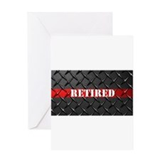 Retired Fire Fighter Greeting Cards