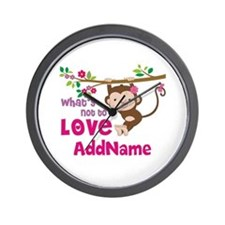 Whats Not to Love Personalized Wall Clock