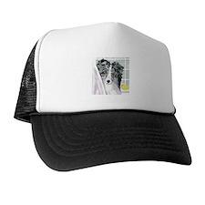 Bi Blue Sheltie Bath Trucker Hat