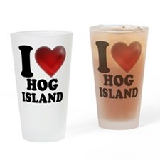 I Heart Hog Island Drinking Glass